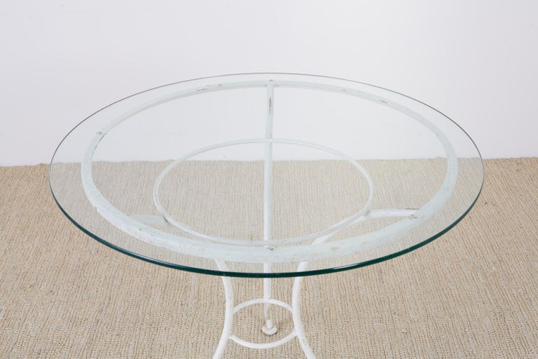 French Bistro Style Garden or Patio Table For Sale 1