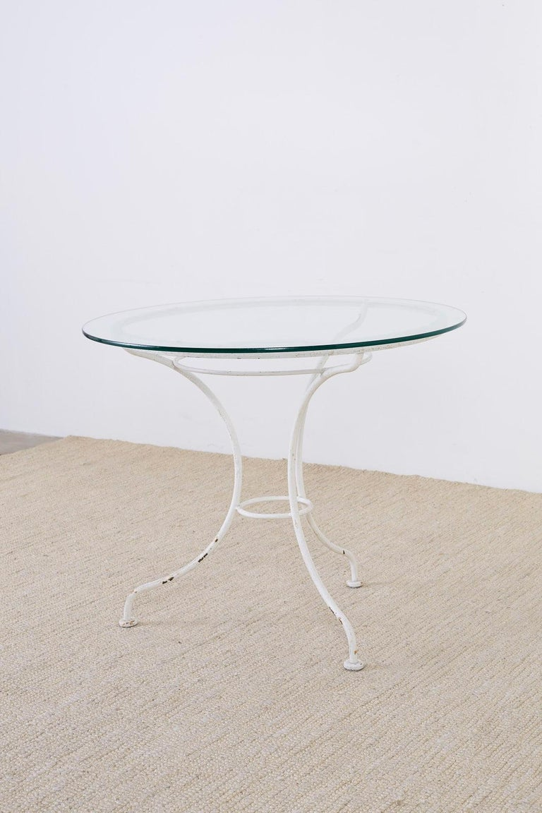 French Bistro Style Garden or Patio Table For Sale 2