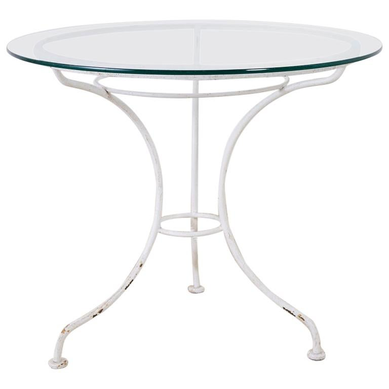 French Bistro Style Garden or Patio Table For Sale
