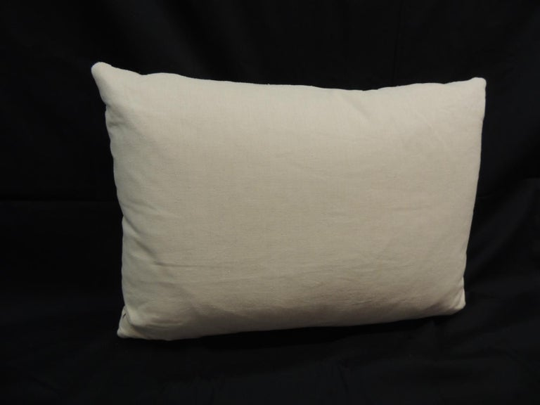 French Black & Natural Woven Stripes Decorative Pillow In Good Condition For Sale In Fort Lauderdale, FL