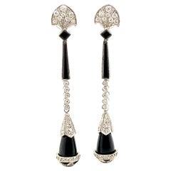 French Black Onyx Earrings