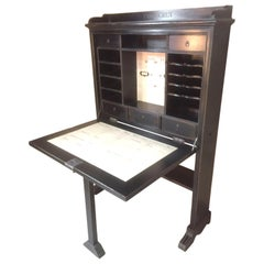 French Black Secretary Desk, 2010s