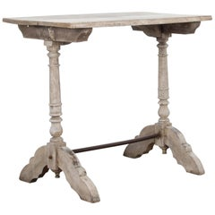 French Bleached Oak Bistro Table