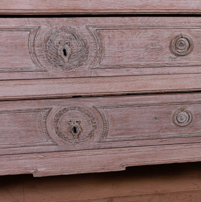 French Bleached Oak Commode For Sale 1