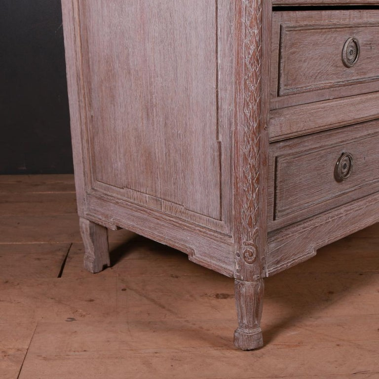 French Bleached Oak Commode For Sale 5