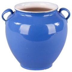 French Blue Ceramic Jar, circa 1930s