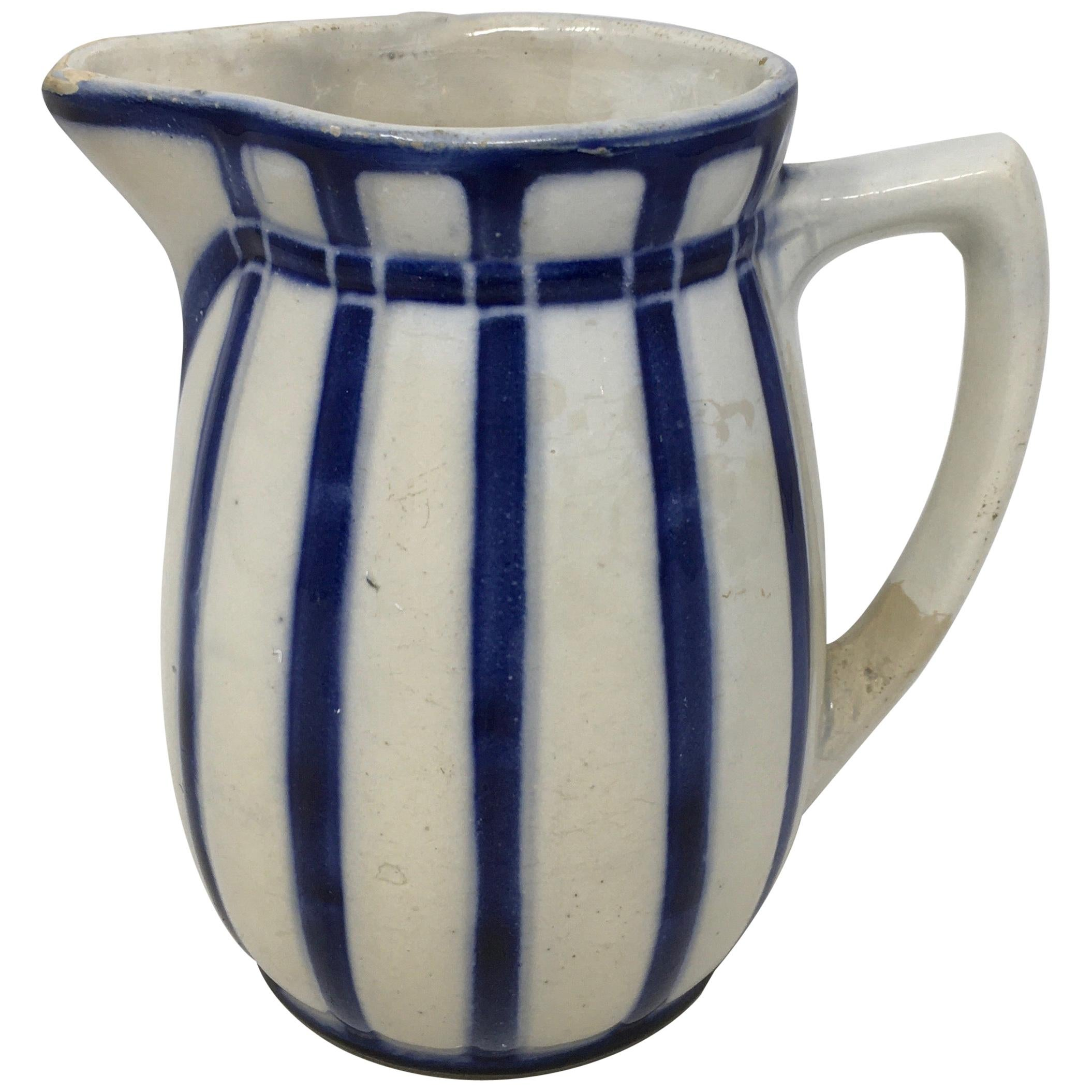 French Blue Pitcher