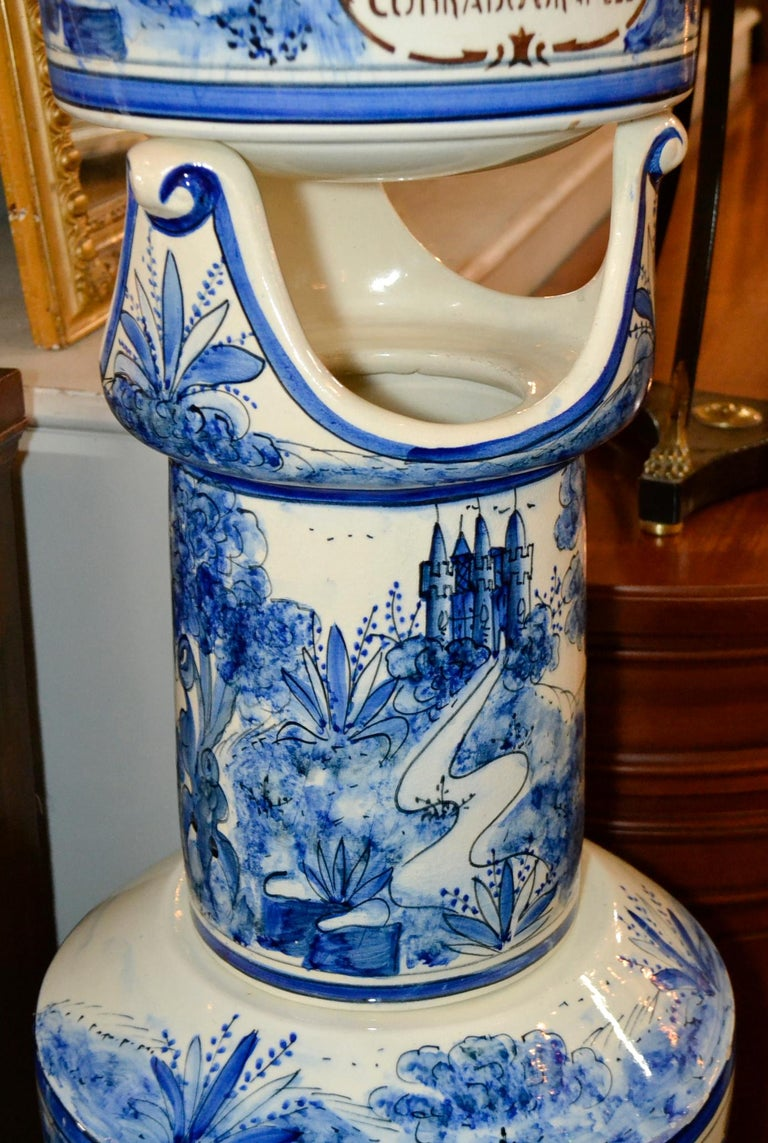 French Blue and White Lavabo For Sale 1