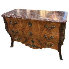 French Bombay Chest with Marble Top