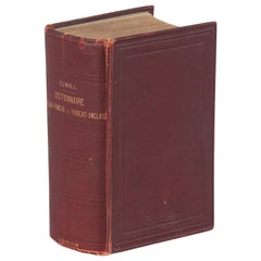 French Book-Dictionnaire Anglais-Francais by Alfred Elwall, 1901