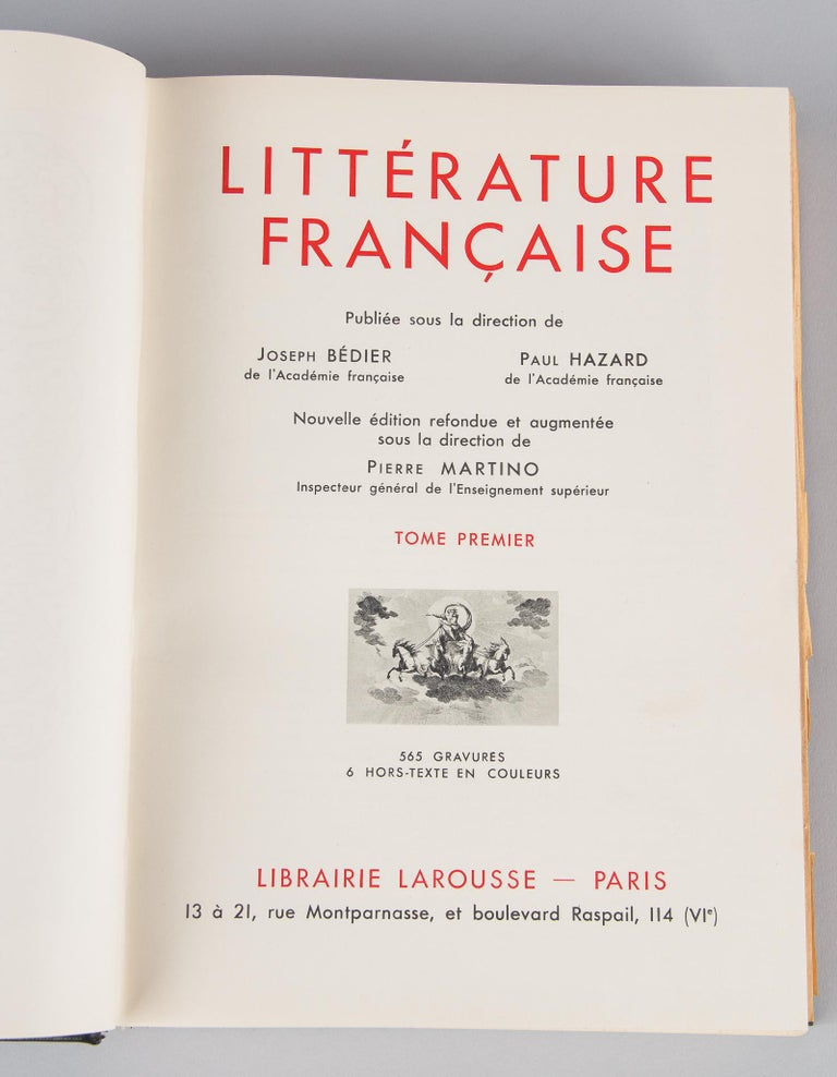 French Book Literature Francaise, Larousse Editions, 1948 1