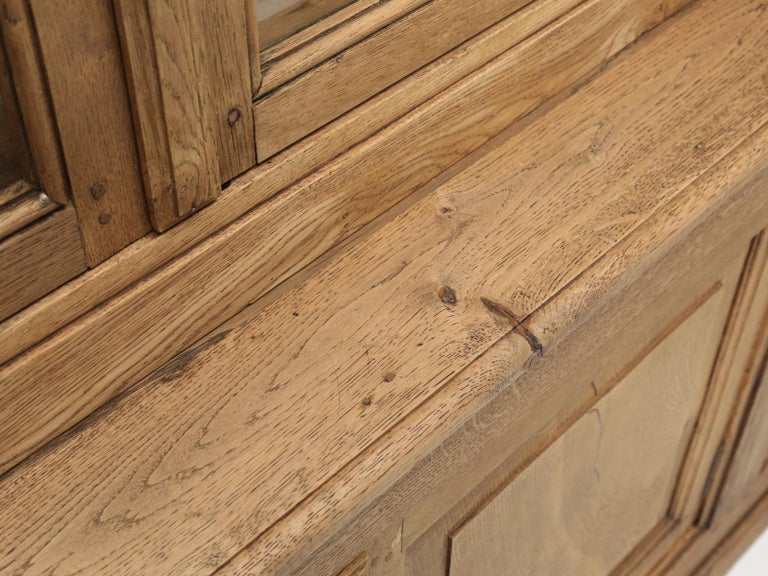 French Bookcase Mid-1800's in Exceptional Unrestored Condition Weathered Oak For Sale 5