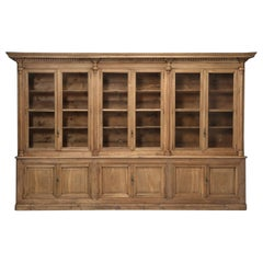 French Bookcase Mid-1800's in Exceptional Unrestored Condition Weathered Oak