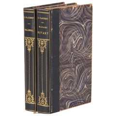 French Books-Two Volume Set by Gustave Flaubert, Early 1900s
