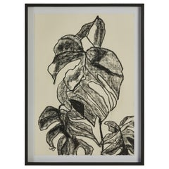 French Botanical Drawing on Paper by Caroline Beauzon