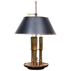 French Bouillotte Brass Three -Light Table Lamp
