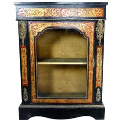 French Boulle Style Display Pier Cabinet, circa 1900