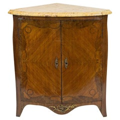 French Bow Front Corner Cupboard