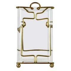 French Brass and Bevelled Glass Photo Frame