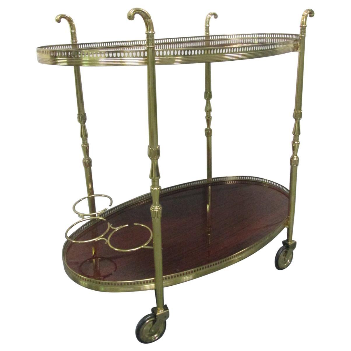 French Brass Bar Cart
