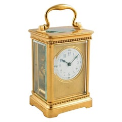 French Brass Carriage Clock, 20th Century