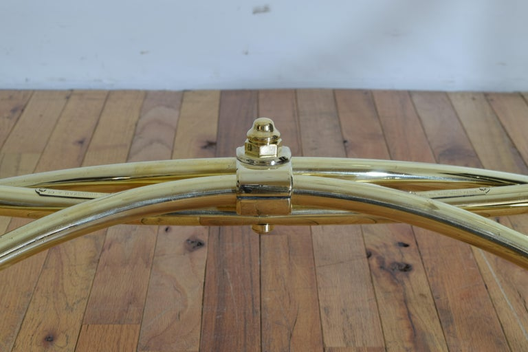 French Brass Clothing Rack, Early 20th Century, Ch. Rousseau & Ce For Sale 6
