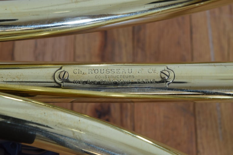 French Brass Clothing Rack, Early 20th Century, Ch. Rousseau & Ce For Sale 7