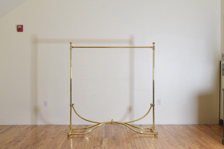 French Brass Clothing Rack, Early 20th Century, Ch. Rousseau & Ce In Excellent Condition For Sale In Atlanta, GA