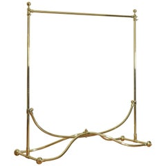 French Brass Clothing Rack, Early 20th Century, Ch. Rousseau & Ce