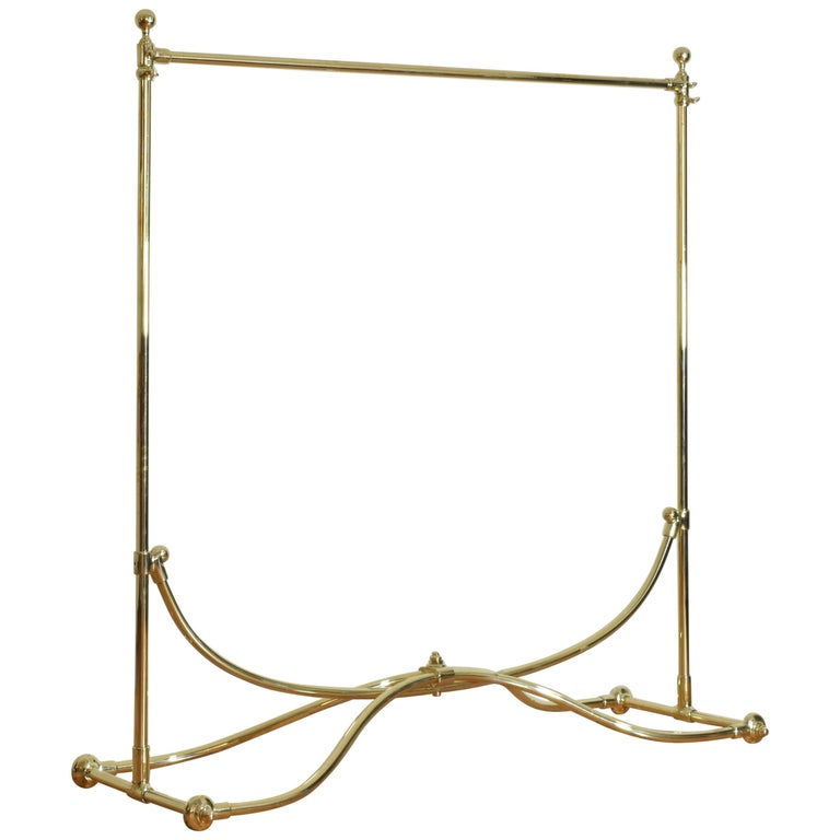 French Brass Clothing Rack, Early 20th Century, Ch. Rousseau & Ce For Sale