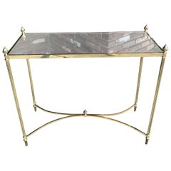French Brass Console by Maison Jansen