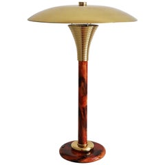 French Brass Desk Lamp or Table Lamp by Maison Le Dauphin, 1970s