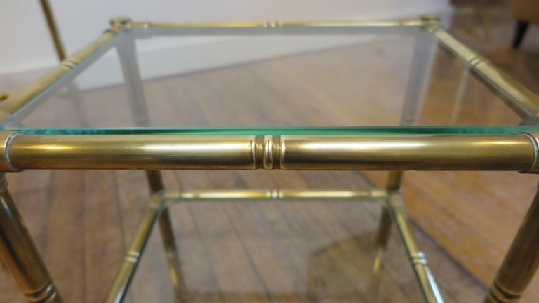 French Brass and Glass Nesting Tables For Sale 5