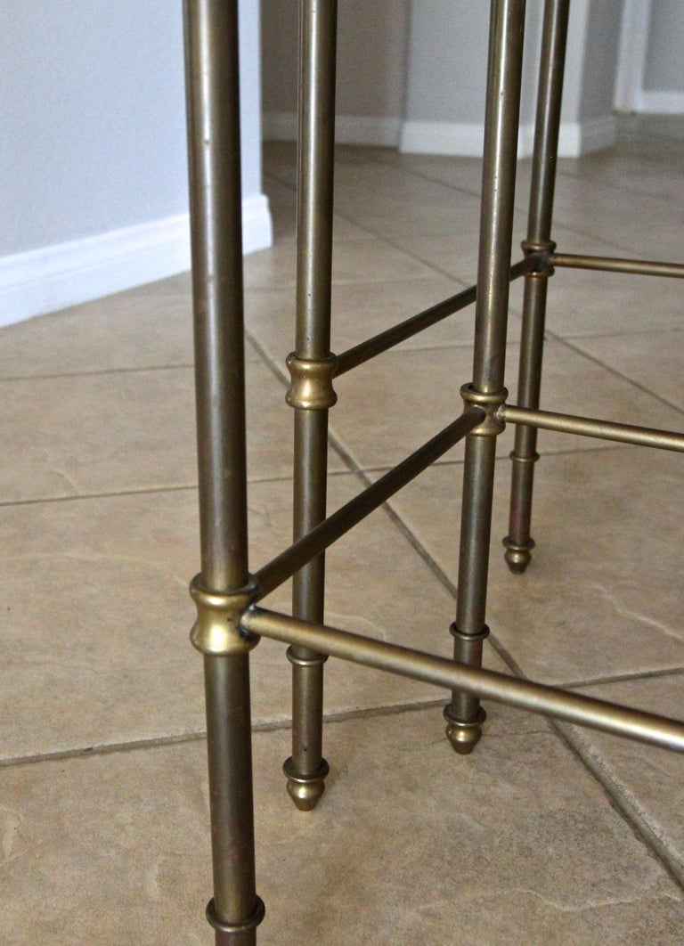 French Brass Mirrored Tops Nesting or Side Tables For Sale 12