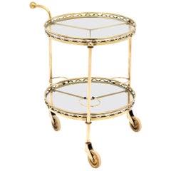 French Brass Vintage Bar Cart