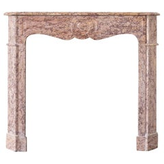 French Brocatello Pompadour Fireplace