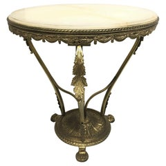 French Bronze and Onyx Side Table