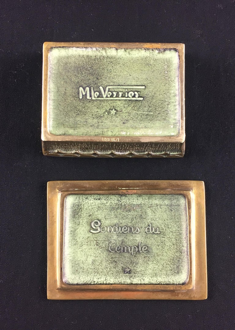 Max Le Verrier French Art Deco Bronze Jewelry Box  In Good Condition For Sale In Arles, FR