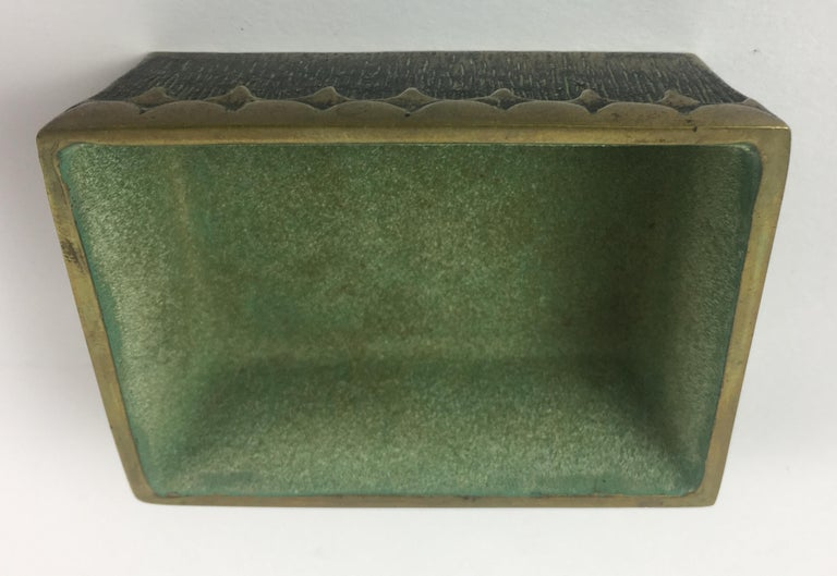 Max Le Verrier French Art Deco Bronze Jewelry Box  For Sale 2