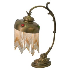 French Bronze Art Nouveau Table Lamp
