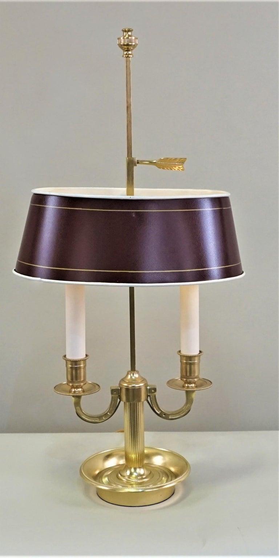 French Bronze Boulliote Desk Lamp In Good Condition For Sale In Fairfax, VA