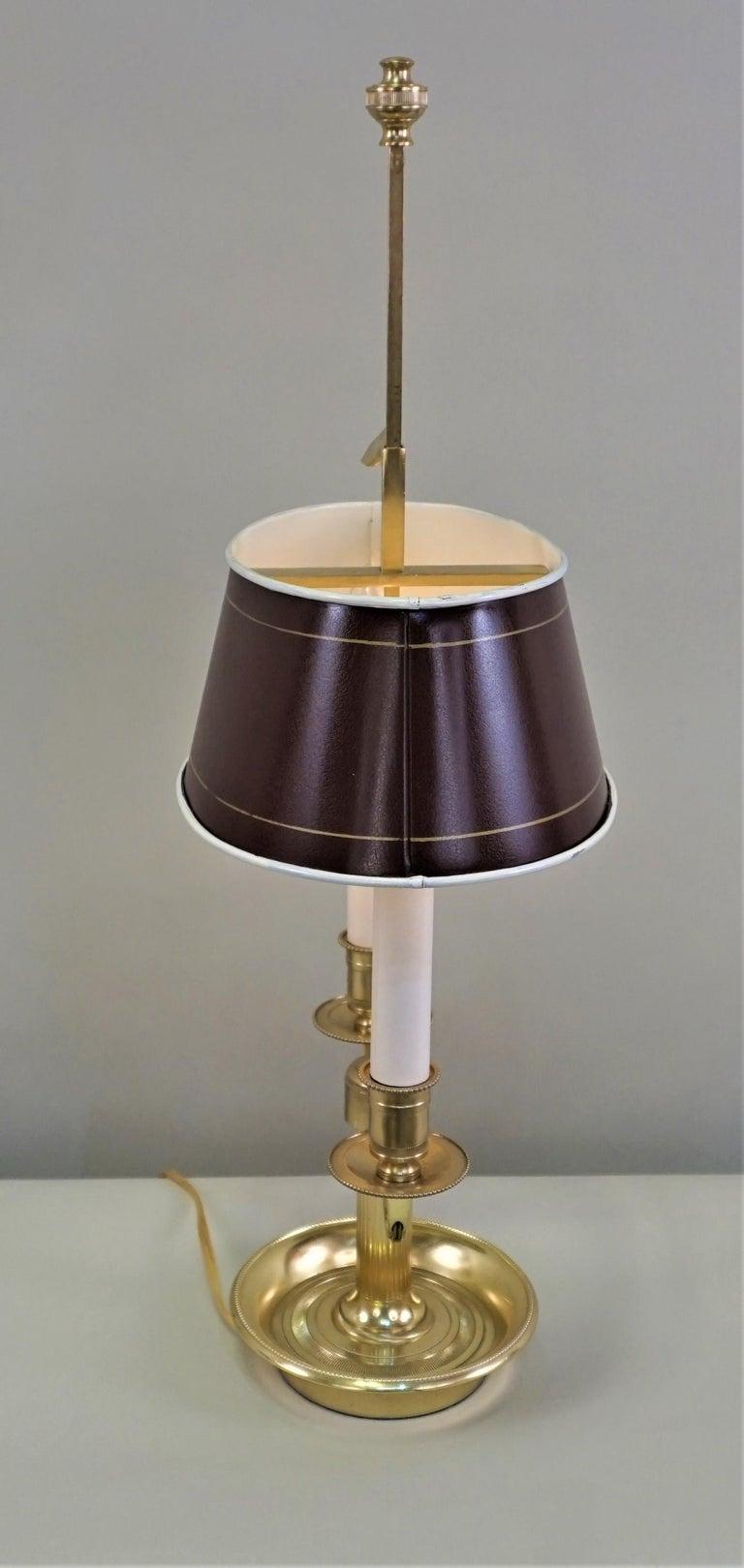French Bronze Boulliote Desk Lamp For Sale 1
