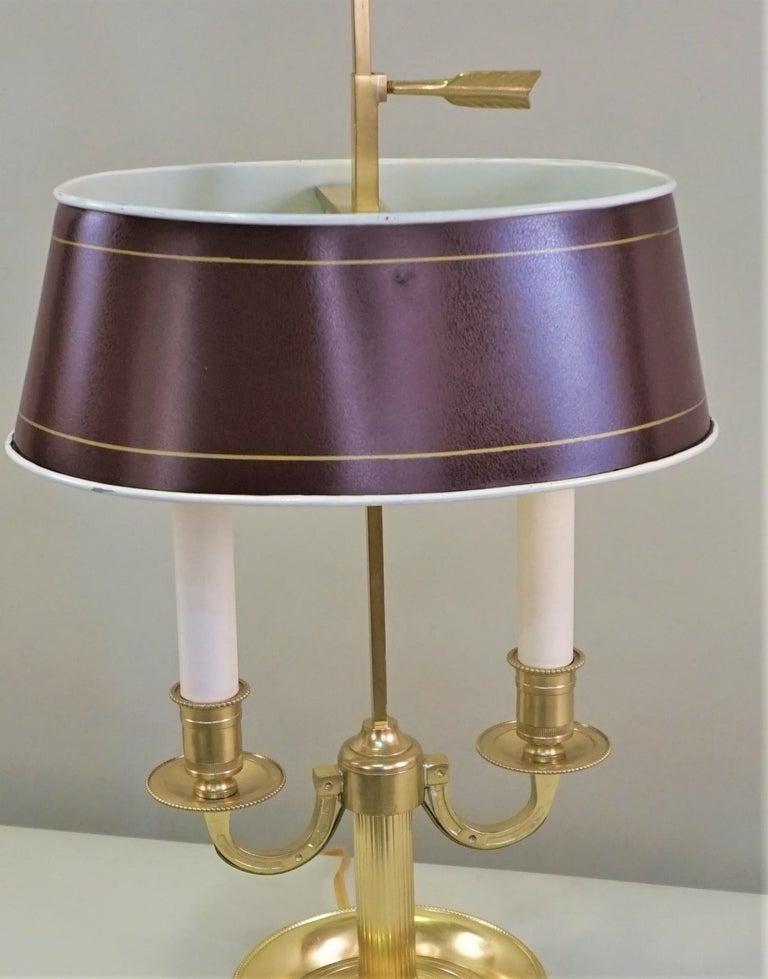 French Bronze Boulliote Desk Lamp For Sale 2
