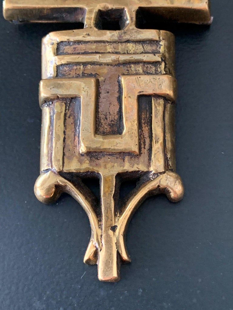 Mid-20th Century French Bronze Brooch by Line Vautrin For Sale