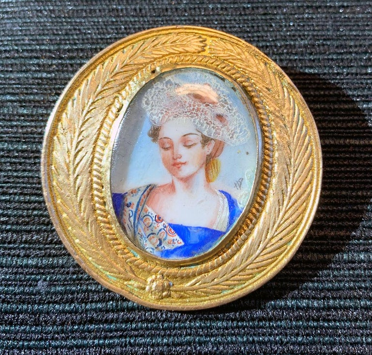 French Bronze Brooch Line Vautrin For Sale 2
