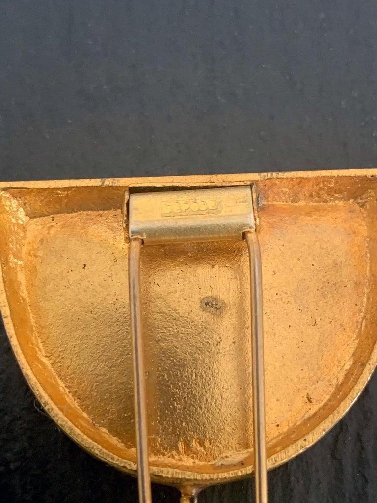 French Bronze Brooch