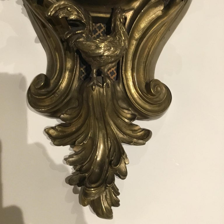 French Bronze Cartel Clock, 19th Century For Sale 2