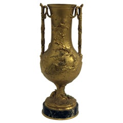 French Bronze Figural Urn Signed Ferdinand Barbedienne, Paris