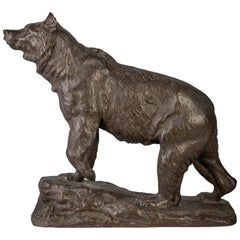 French Bronze Figure of a Bear, by Isidore Jules Bonheur '1827-1901'