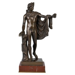 French Bronze Figure of the Apollo Belvedere